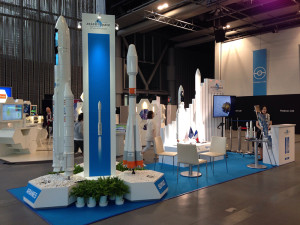 """The Arianespace launcher family of Ariane 5, Soyuz, Vega and the upcoming Ariane 6 were showcased in Tokyo, Japan on the company's """"la France est innovante"""" booth."""