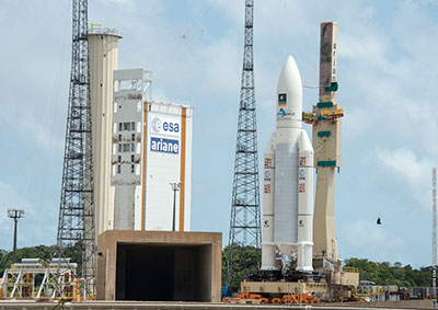 Ariane 5 at the Spaceport's ELA-3 launch zone