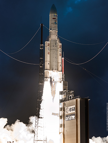 With an on-time departure from the Spaceport, Arianespace's Flight VA235 deployed SKY Brasil-1 and Telkom 3S into geostationary transfer orbit.