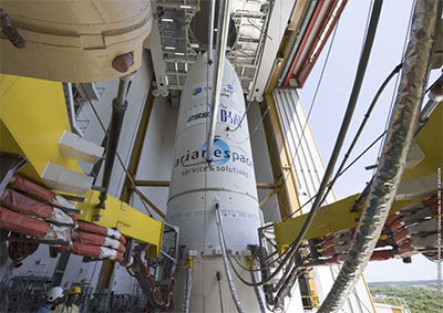 Ariane 5 in the Final Assembly Building