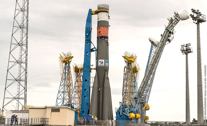 Soyuz at the ELS launch zone