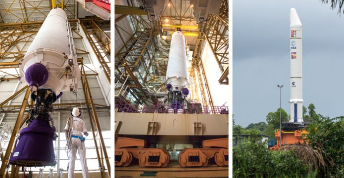 Ariane 5 build-up for Arianespace's Flight VA238