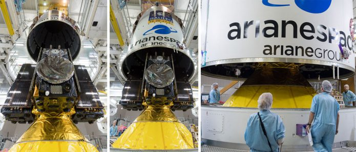 Four Galileo satellites are integrated for launch